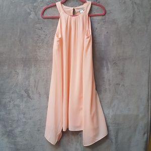 White House Black Market Peach flowy dress